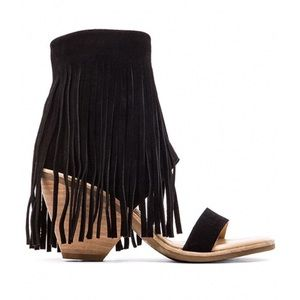 Koolaburra by UGG suede fringe cuff sandals